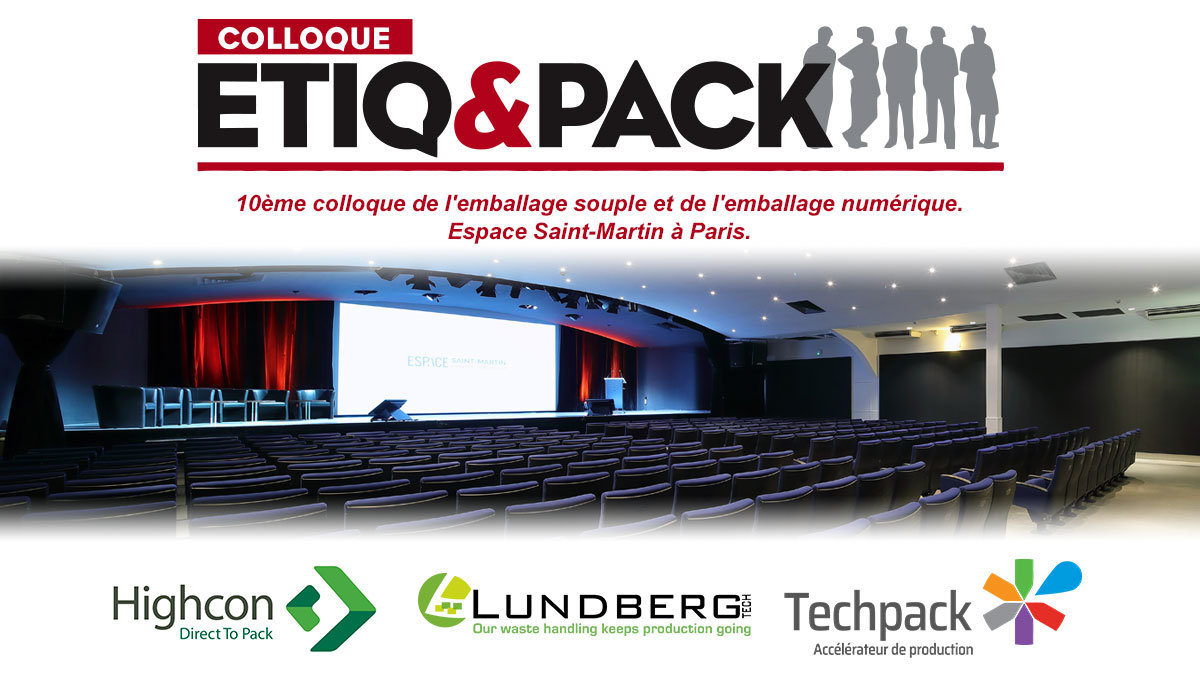 Colloque ETIQ & PACK à l'espace Saint-Martin à Paris.